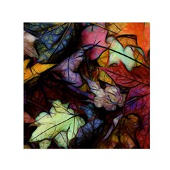 Fall Leaves Abstract Small Satin Scarf (square) by bloomingvinedesign
