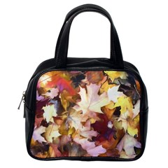 Fall Leaves Bright Classic Handbag (one Side) by bloomingvinedesign