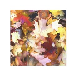 Fall Leaves Bright Small Satin Scarf (square) by bloomingvinedesign