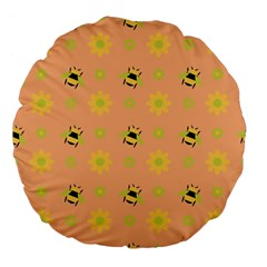Bee A Bug Nature Large 18  Premium Flano Round Cushions