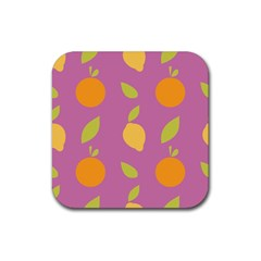 Seamlessly Pattern Fruits Fruit Rubber Coaster (square)  by Nexatart