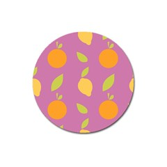 Seamlessly Pattern Fruits Fruit Magnet 3  (round) by Nexatart