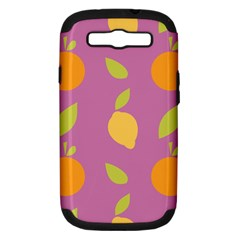 Seamlessly Pattern Fruits Fruit Samsung Galaxy S Iii Hardshell Case (pc+silicone) by Nexatart