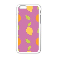 Seamlessly Pattern Fruits Fruit Apple Iphone 6/6s White Enamel Case by Nexatart
