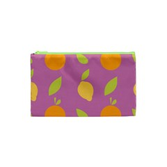 Seamlessly Pattern Fruits Fruit Cosmetic Bag (xs) by Nexatart