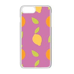 Seamlessly Pattern Fruits Fruit Apple Iphone 7 Plus Seamless Case (white)