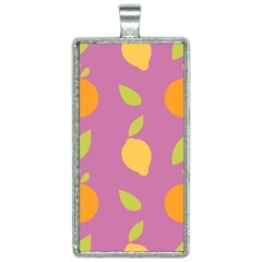 Seamlessly Pattern Fruits Fruit Rectangle Necklace