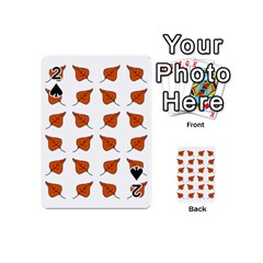 Pattern Fallen Leaves Autumn Playing Cards 54 (mini) by Nexatart
