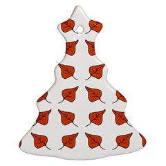 Pattern Fallen Leaves Autumn Christmas Tree Ornament (two Sides)