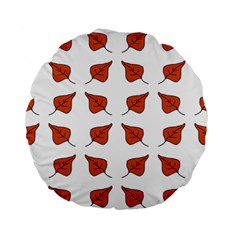 Pattern Fallen Leaves Autumn Standard 15  Premium Round Cushions