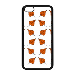 Pattern Fallen Leaves Autumn Apple Iphone 5c Seamless Case (black)