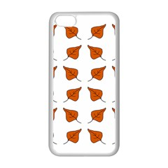 Pattern Fallen Leaves Autumn Apple Iphone 5c Seamless Case (white)