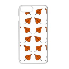 Pattern Fallen Leaves Autumn Apple Iphone 7 Plus Seamless Case (white) by Nexatart