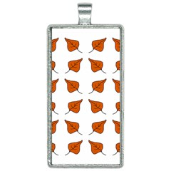 Pattern Fallen Leaves Autumn Rectangle Necklace