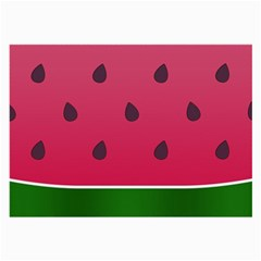Watermelon Fruit Summer Red Fresh Large Glasses Cloth (2 Side) by Nexatart