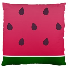 Watermelon Fruit Summer Red Fresh Large Cushion Case (one Side) by Nexatart