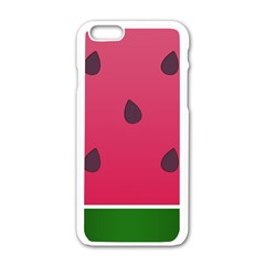 Watermelon Fruit Summer Red Fresh Apple Iphone 6/6s White Enamel Case by Nexatart