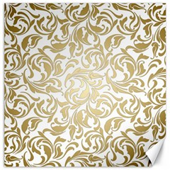 Gold Vintage Rococo Model Patern Canvas 20  X 20  by Nexatart