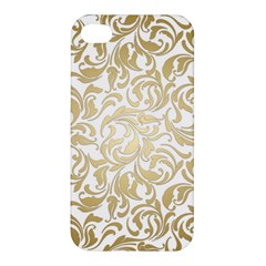 Gold Vintage Rococo Model Patern Apple Iphone 4/4s Hardshell Case