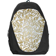 Gold Vintage Rococo Model Patern Backpack Bag by Nexatart