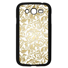 Gold Vintage Rococo Model Patern Samsung Galaxy Grand Duos I9082 Case (black) by Nexatart
