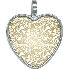 Gold Vintage Rococo Model Patern Heart Necklace