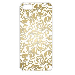 Gold Vintage Rococo Model Patern Apple Iphone 5 Seamless Case (white)