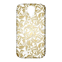 Gold Vintage Rococo Model Patern Samsung Galaxy S4 Classic Hardshell Case (pc+silicone) by Nexatart