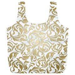 Gold Vintage Rococo Model Patern Full Print Recycle Bag (xl)