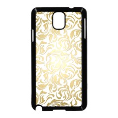 Gold Vintage Rococo Model Patern Samsung Galaxy Note 3 Neo Hardshell Case (black)