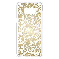 Gold Vintage Rococo Model Patern Samsung Galaxy S8 Plus White Seamless Case
