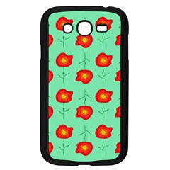 Flowers Pattern Ornament Template Samsung Galaxy Grand Duos I9082 Case (black)