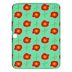 Flowers Pattern Ornament Template Samsung Galaxy Tab 3 (10 1 ) P5200 Hardshell Case
