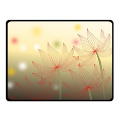 Flower Summer S Nature Plant Double Sided Fleece Blanket (small)