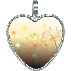 Flower Summer S Nature Plant Heart Necklace