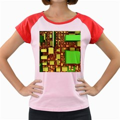 Blocks Cubes Construction Design Women s Cap Sleeve T Shirt by Nexatart