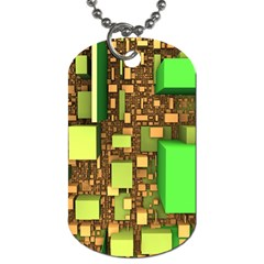 Blocks Cubes Construction Design Dog Tag (one Side)