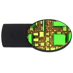 Blocks Cubes Construction Design Usb Flash Drive Oval (4 Gb) by Nexatart