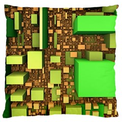 Blocks Cubes Construction Design Standard Flano Cushion Case (one Side) by Nexatart