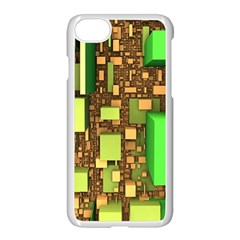 Blocks Cubes Construction Design Apple Iphone 7 Seamless Case (white) by Nexatart