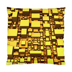 Cubes Grid Geometric 3d Square Standard Cushion Case (two Sides) by Nexatart