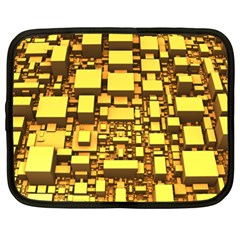 Cubes Grid Geometric 3d Square Netbook Case (xxl) by Nexatart