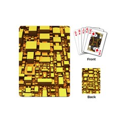 Cubes Grid Geometric 3d Square Playing Cards (mini) by Nexatart