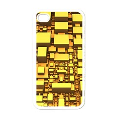 Cubes Grid Geometric 3d Square Apple Iphone 4 Case (white) by Nexatart
