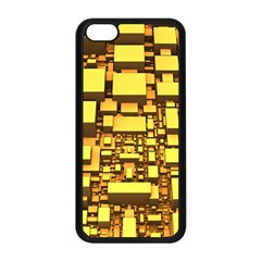 Cubes Grid Geometric 3d Square Apple Iphone 5c Seamless Case (black) by Nexatart