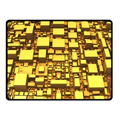 Cubes Grid Geometric 3d Square Double Sided Fleece Blanket (small)  by Nexatart