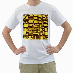 Cubes Grid Geometric 3d Square Men s T Shirt (white)  by Nexatart