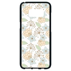 Dandelion Colors Nature Flower Samsung Galaxy S8 Black Seamless Case
