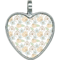 Dandelion Colors Nature Flower Heart Necklace