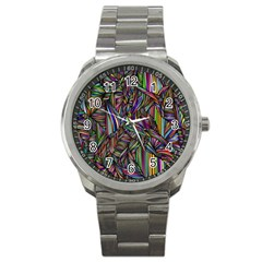 Background Wallpaper Abstract Lines Sport Metal Watch